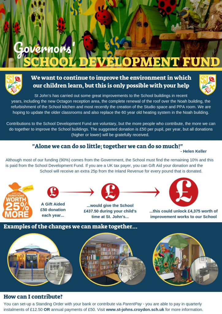 A4 School Development Fund Poster