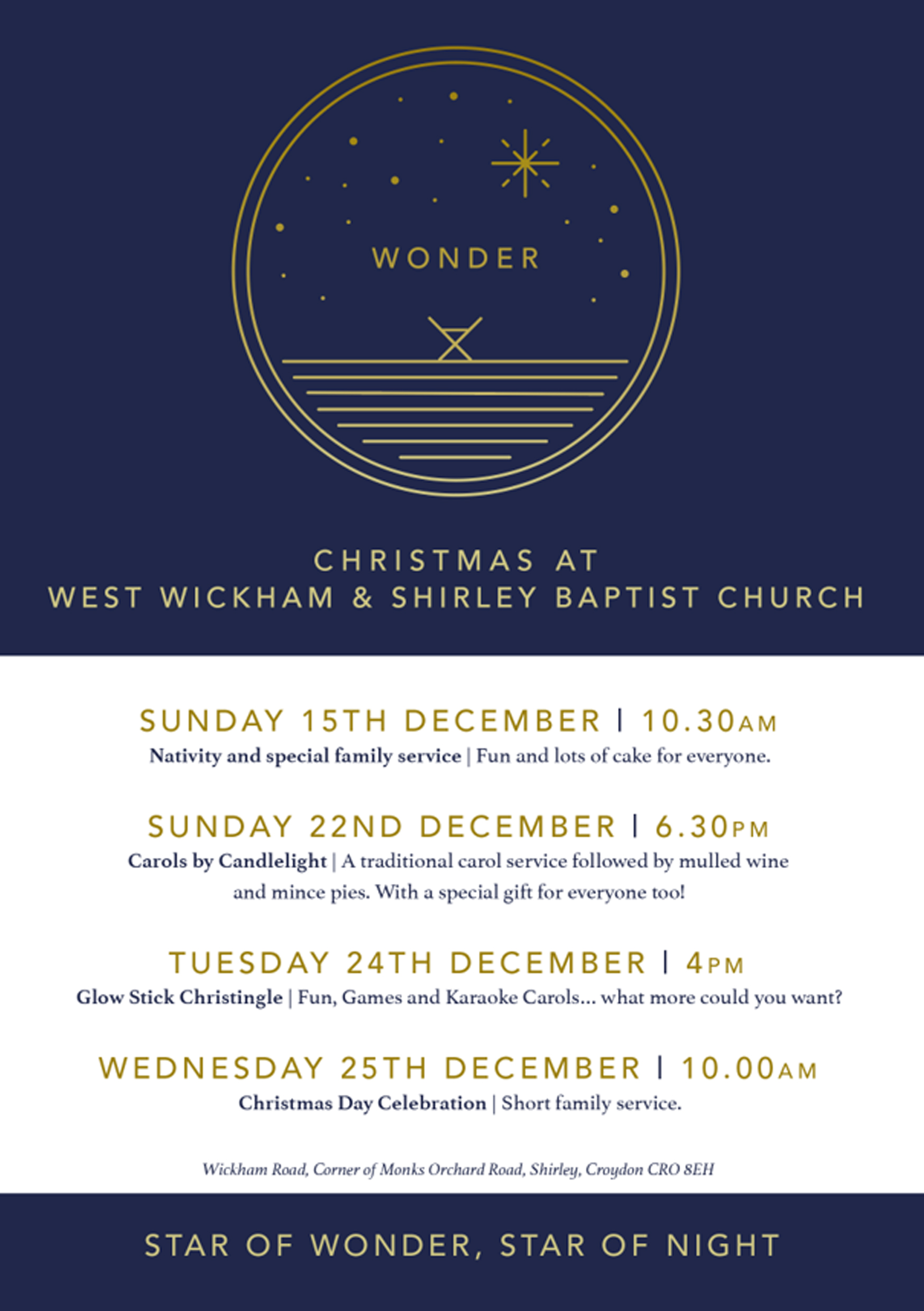 West Wickham and Shirley Baptist Church_Christmas Flyer 2019