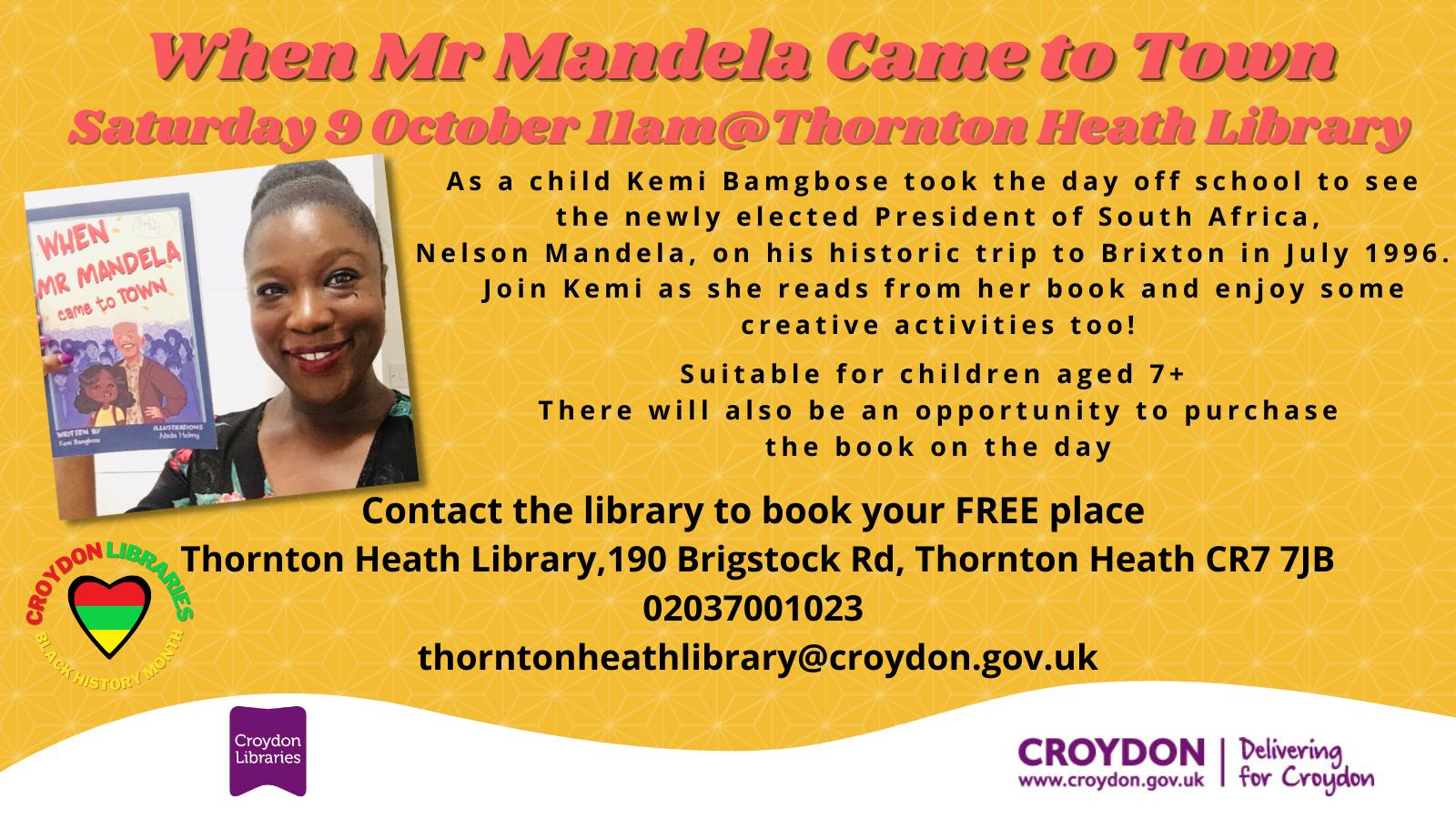 When Mr Mandela Came to Town schools invite